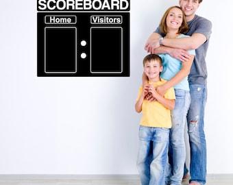"""Scoreboard Chalkboard Wall Decal - 24"""" x 20.5"""""""