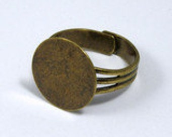 Antique Brass Ring Base with 16mm Pad #MRD013