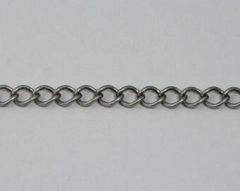 Antique Silver, 8mm x 7mm Curb Chain #CC179