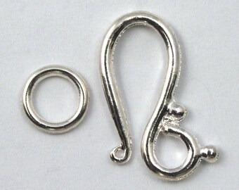 20mm Silver Decorative Hook Clasp #CLB141