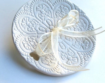 Weddings, Wedding Party, Ring Bearer Ring Pillows, Hand Built Porcelain, Wedding Ring Dish, Ready to Ship
