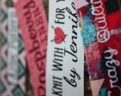 150 Custom Printed Fabric Labels fully washable top quality