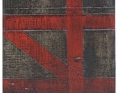 ORIGINAL Painting - Industrial Urban Abstract - One of a Pair (10x10 inches). Acrylic, Bitumen and Dry Ink on Canvas.