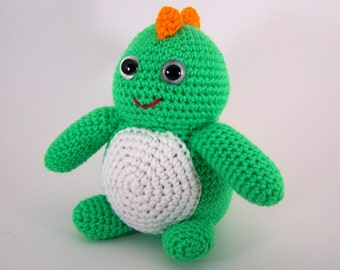 Crocheted dinosaur , amigurumi plush stuffed dinosaur , stuffed animal dinosaur  -  Darby Dinosaur