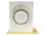Radiant Letterpress note card