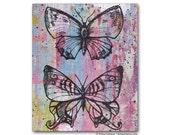 Butterfly Pink Feminine Teen Wall Art