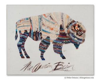 American Heritage (Bison) Print on Wood