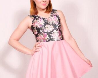 Flower Girl Tank Top Skater Dress