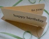 Happy Birthday flash card x 3