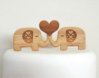 Elephant Cake Topper. Wedding Cake Topper. Cake Topper. Rustic Cake Topper. Wood Cake Topper. Wedding Cake Ornament. Shabby Chic Cake Topper
