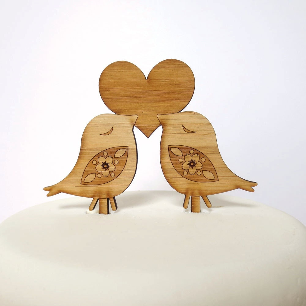 Love Birds Cake Topper. Bird Cake Topper. Wedding Cake Topper.