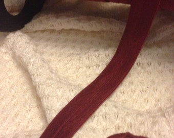 Burgundy  Color  fold over Elastic Trim 10 Yards