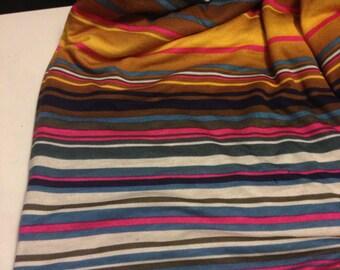 Rayon Jersey Knit Stripes 1 Yard