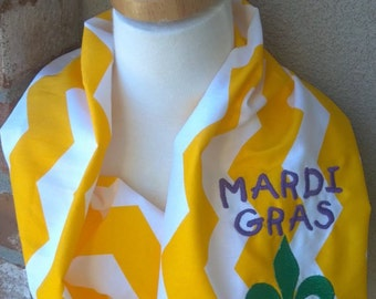 Scarf Embriodered mardi gras teacher mothers gift wholesale Game day Mother's Game Day Scarf