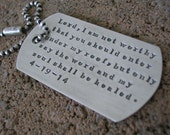 Military Dog Tag Key chain Sterling Silver Oxidized Personalized Jewelry Hand Stamped Key Chain