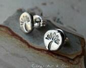 Silver Nugget Post Earrings Wish Silver Stud Earrings Ready to Ship