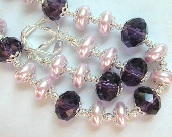 Lavender Bracelet Set, Purple Bracelet Set