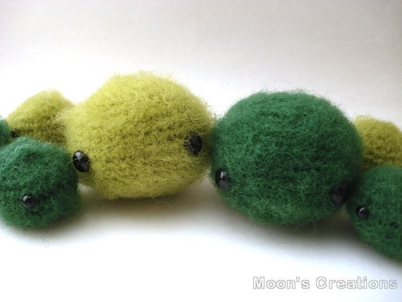 Close Amigurumi Ball : Items similar to Large Marimo Amigurumi - Moss Ball or ...