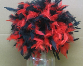 "Feather Centerpiece,Kissing Ball,Pomander 6""-14"" 2 colors, crystals, pearls, cherry, chocolate,black,white,etc premixed"