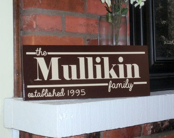 Family name plaque Vinyl - VINYL ONLY - Established plaque