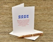 35 is a very attractive age - Oscar Wilde quote - letterpress card