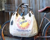 "Younkerman's ""Supreme"" Seeds That Grow - Open Tote - Americana OOAK Canvas & Leather Tote... Selina Vaughan"