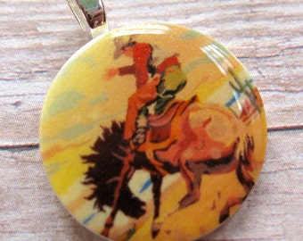 Retro Cowboy Mini Pendant