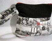 Walking Dead wristlet purse zombie fabric clutch bag comic themed