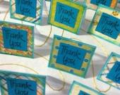 Fun Ocean Blue Mini Thank you cards- set of 20