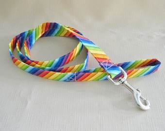Rainbow stripe diagional  - Dog Leash