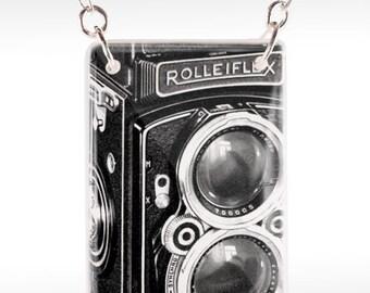 Rolleiflex Camera Necklace - Old Camera Necklace - Camera Jewelry - Film Necklace
