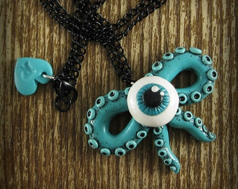 Tentacle Bow Eyeball Necklace