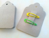 25 Kraft Hair Clip Cards, Barrette cards, Clippie Card, bobby pin card  Product Tag