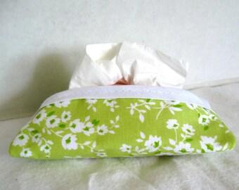 Floral Tissue Holder Lime Tissue Cozy Pocket Tissue Case
