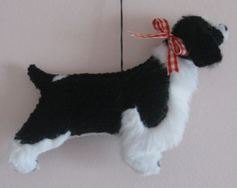 Springer Spaniel Dog Friend Ornament - Black / White or Liver / White