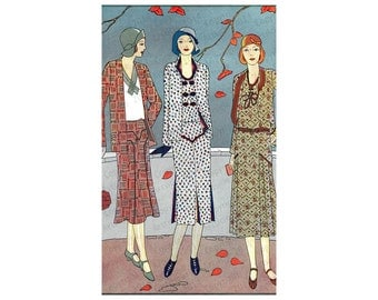 Fashion Catalog Illustration Vintage Womens Art Deco Era 1920s JPG PDF or PNG 600dpi