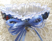 Blue&White EMT Garter-Paramedic-EMT-Emergency Medical-Mountain Air Rescue-Ambulance-MAMA