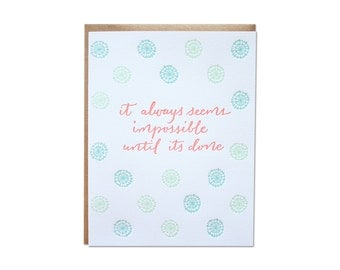 Impossible Letterpress Card