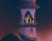 "Diwali Art, Indian Art, Celebration, Festival of Lights, Wall Art - ""Diwali Dreams"""