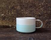 The Walden Mug in Mint + Cream