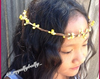 Ready to Ship - Flower Halo - Yellow