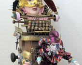 Surely You Jest   Recycled Found Object Mixed media Sculpture