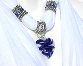 Scarf Jewelry Pendant Scarves With Pendants Ice White Scarf