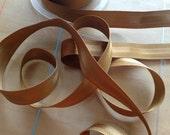 Grosgrain RIBBON - 3/4 Inch - Bronze Stripe