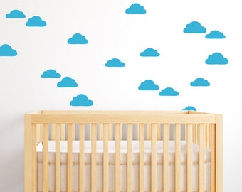 Cloud Wall Decals - Cloud Decals - Cloudy Sky Wall Mural Decal - Child Nursery Decal - Statement Decal - Baby Decor Cloud Decal -  WD1053