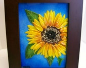 Fused Glass Painting (Sunflower)