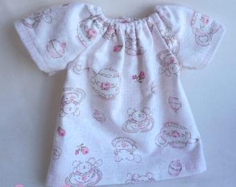 Waldorf doll dress, doll dress, doll nightgown, 14 - 16 inch waldorf doll clothes, germandolls, tea party Dress, rag dolll, cloth doll