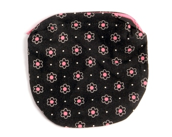 Black floral kids coin purse