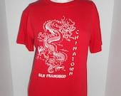 90's distressed Vintage SF San Francisco Chinatown  tee tshirt t shirt