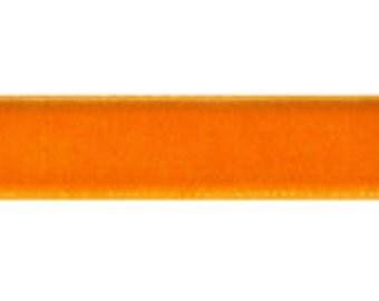 "10 yards - 3/8"" Velvet Ribbon in TANGERINE"
